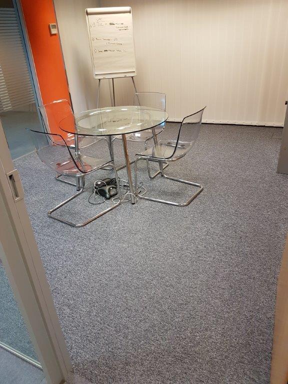 Flooring Installation in Meeting Room at Gerber Foods, Bridgwater, Somerset