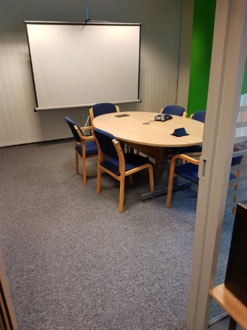 Flooring Installation in Boardroom at Gerber Foods, Bridgwater, Somerset