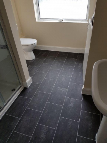 Westmac installed tile-effect flooring at residential property in Taunton
