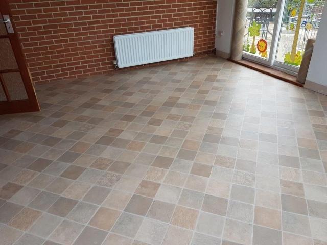 Stone tile-effect flooring, Nursery Play Room