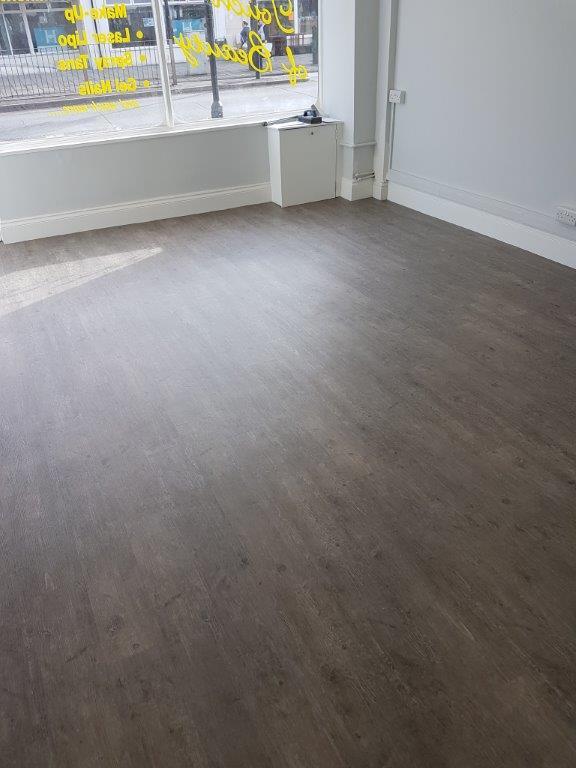 Flooring Installation at Tanning Studio, Taunton