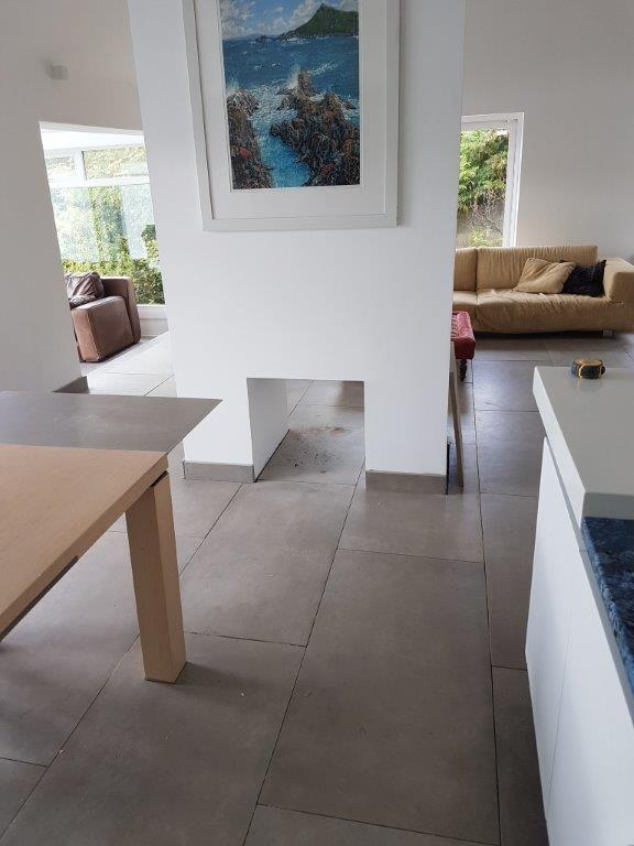 Westmac installed stone-effect flooring in a kitchen at a residential property