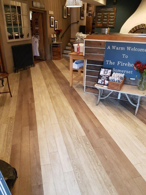 Flooring installation at The Firehouse, Somerset